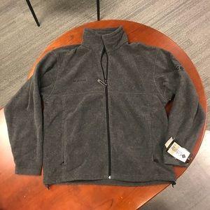 NWT Columbia Grey Full Zip Fleece Sweater Jacket L